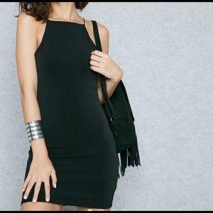FOREVER 21 High Neck Body-con Black HYFVE Dress